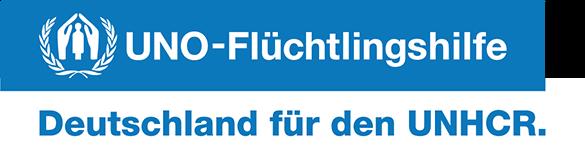 Logo UNHCR - UNO Flüchtlingshilfe Deutschland